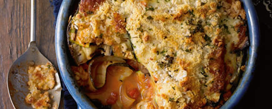 Courgette Red Onion & Mozzarella Bake